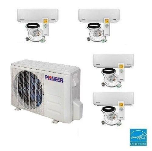 4 Zone Ductless Mini Split Air Conditioner Heat Pump 9k 9k 9k 9k  22.5  Seer