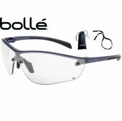 Bolle 40237 Silium Plus Safety Glasses Graphite Frame With Clear Anti-fog Lens