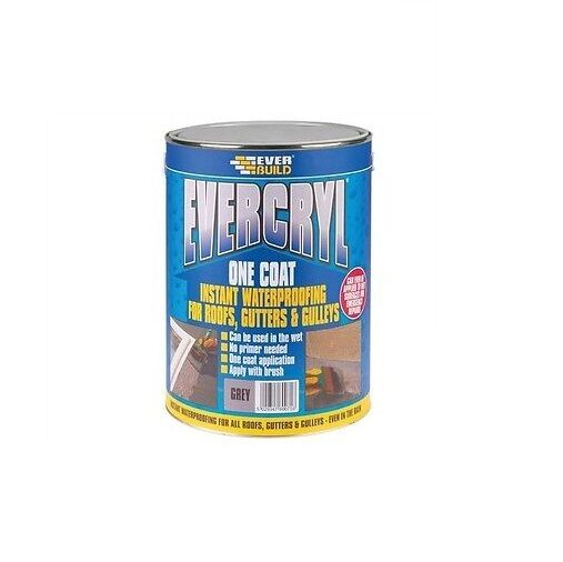 20KG EVERBUILD GREY EVERCRYL ONE COAT ROOF REPAIR COMPOUND PAINT
