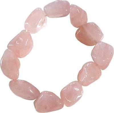Rose Quartz Tumbled Stone Bracelet!