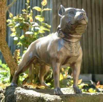 Pit Bull Pitbull/Staffie Terrier Bronzed Dog Ornament