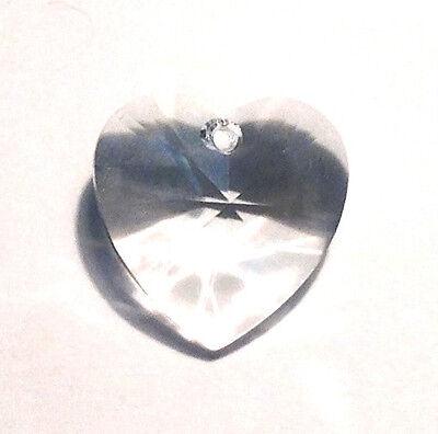 28mm Swarovski Strass Clear Heart Crystal Prisms Feng Shui Wholesale 6202-28 CCI