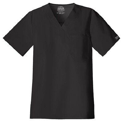 Cherokee Scrubs Workwear Men's Scrub Top 4743 Black BLKW Che