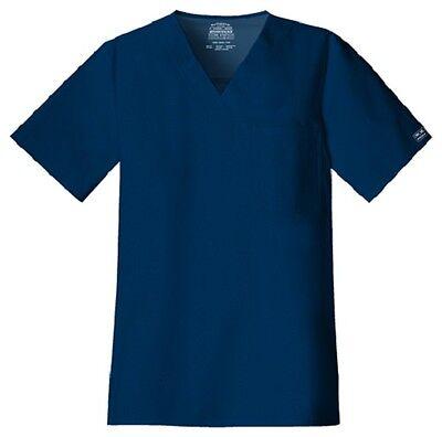 Cherokee Scrubs Workwear Men's Scrub Top 4743 Navy NAVW Cher
