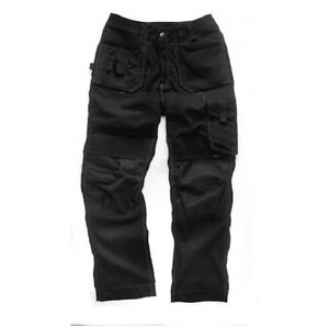 SCRUFFS-NEW-PRO-TROUSERS-2012-BLACK-WAIST-30-40-LEG-31-33-HEAVY-DUTY-WORK-WEAR