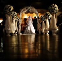 STUNNING CHURCH & AISLE DECOR•WEDDING PACKAGES•RENTALS AVAILABLE