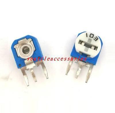 1-500pcs Trimmer Trim Adjustable Variable Resistor Blue-white Potentiometer