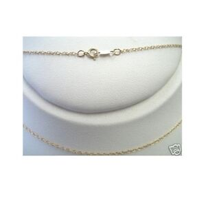 14k Solid Yellow Gold Lite Pendant Rope Chain Necklace 18