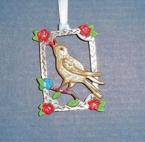 KUHN HAND PAINTED PEWTER FROM GERMANY EASTER/SPRING MOTIF WREN