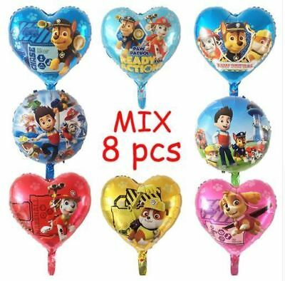 8pcs PAW Patrol Foil Balloons 18 inch Birthday Party Decorations Baby Shower - 18 Birthday Party Decorations