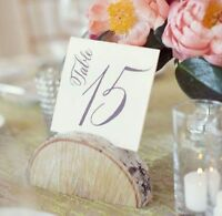 WEDDING - Birch Wood Table Number Stands