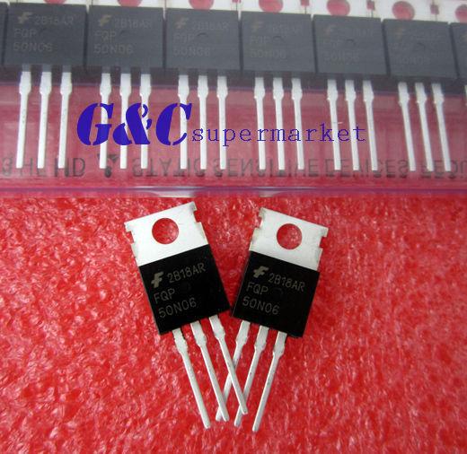 10PCS FQP50N06 50N06 MOSFET N-CH 60V 50A TO-220 NEW GOOD QUALITY T4