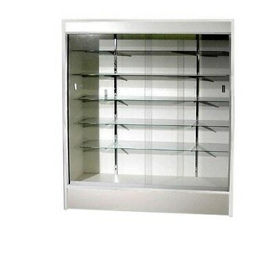 Trophy Case Glass Display Case 70 Long X 78 Tall White Wc6w