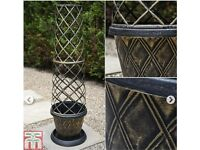 2 x New Garden Tower Pots/Planters - great for climbing plants on patio.