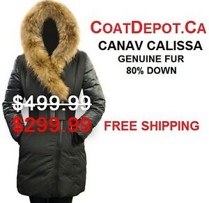 80% Down w/ Real Fur styled like Mackage, rudsak, Canada Goose..
