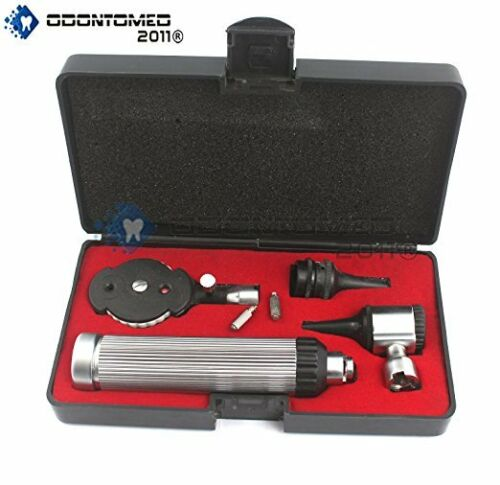 New Professional Physician Ophthalmoscope Otoscope Diagnostic Set + 2 Free Bulbs