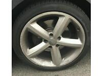 A5 s line genuine 18 inch alloys with tyres . May fit other models