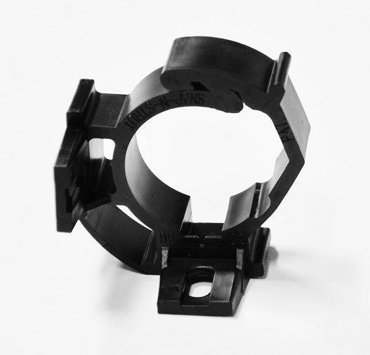 "sns30-34HS, Qty 100, pipe clamp for 1""PVC, black color, nylon"