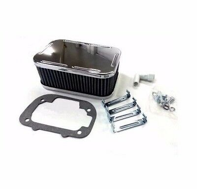 For Weber Carburetor Chrome Air Filter Assembly Kit Clips