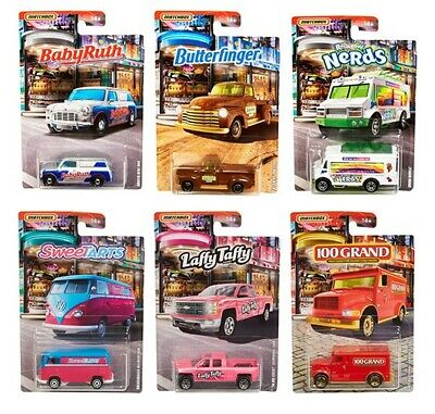 Candy Cars (Matchbox 2019 Candy Series Complete Set of 6, 1/64 Diecast Model Cars)