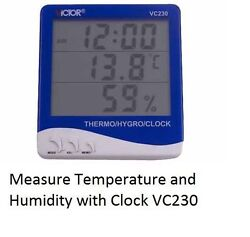 VC230 Humidity Temperature Tester Meter with Alarm Clock n Thermo and Hygrometer