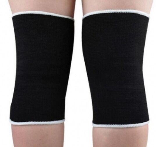 Elasticated Knee Support Compression Bandage Brace Wrap Arthritis Tendinitis x 2