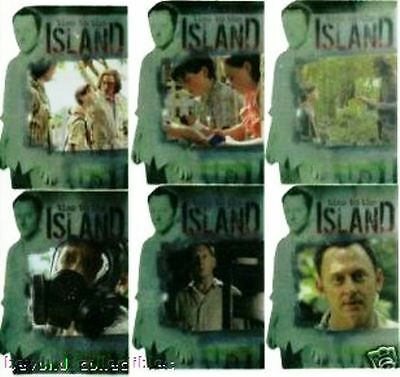 LOST SEASON 3  - TIES TO THE ISLAND - INSERT CHASE CARD SET OF 6 TI-1 TO TI-6
