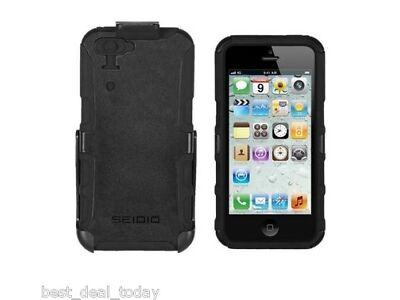 Seidio Innocase Change Rugged Combo Case Holster For Apple Iphone 5 Black AT&T
