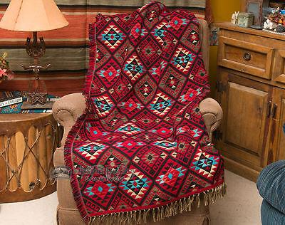 Soft Jacquard Throw Blanket 50x60 -Southwest (t3) Acrylic Jacquard Blanket