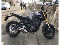 2016 plate Yamaha MT-09 850cc Naked Motorbike Low Mileage Grey - one lady owner