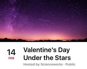 2 tickets for Valentine's Day under the stars Brunswick Moreland Area Preview