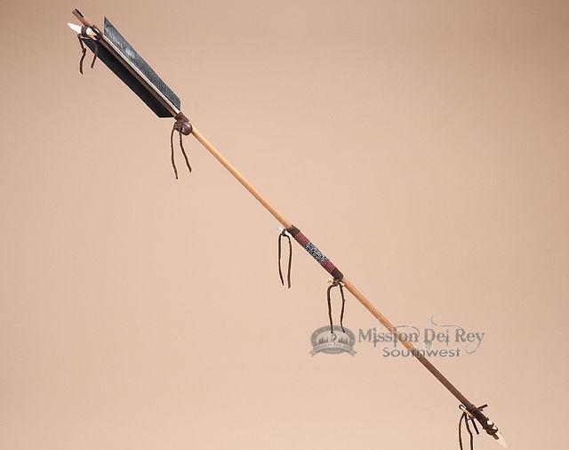 "Decorative Beaded Navajo Indian Arrow 34""-Crystal (7)"