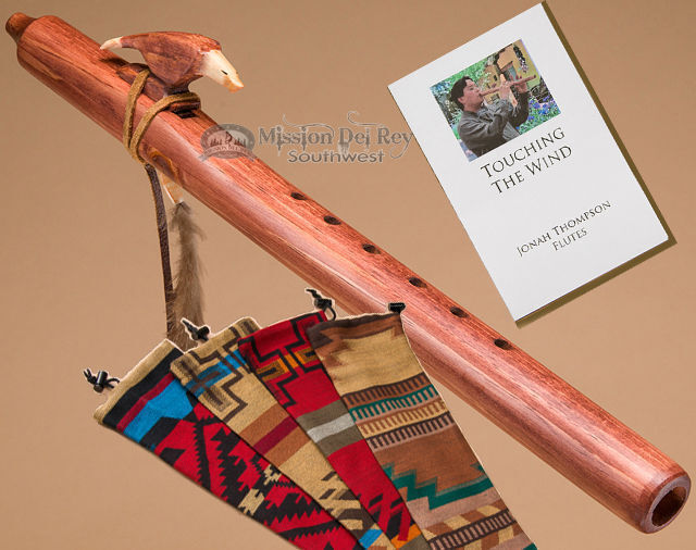 Native American Flute & Bag-Walnut Eagle by Jonah Thompson