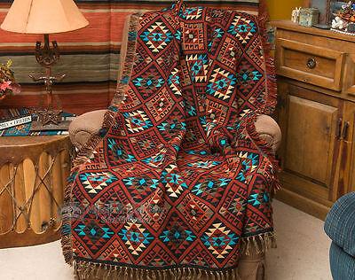 Southwest Jacquard Throw Blanket 50x60 -Sierra (t7) Acrylic Jacquard Blanket