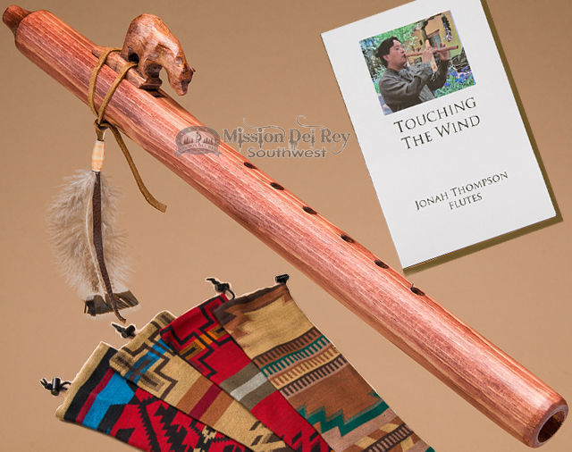 Native American Flute & Bag -Walnut Bear