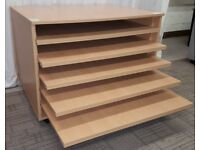 Large Paper Drawer Storage Unit Classroom Style