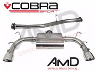 RX8 PZ EXHAUST. CENTRE PIPE, REAR BOX, TWIN OVAL END CANS