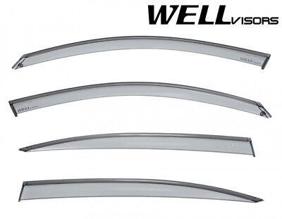 For 17-Up Honda CR-V CRV WellVisors Side Window Visors with Chrome Trim