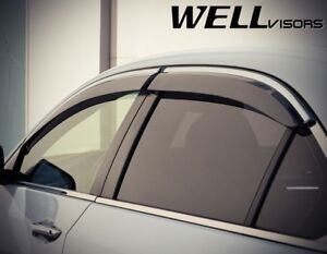 Acura TSX Sedan 2009-2014 WELLvisors window deflectors