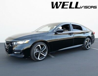 WellVisors For 18-Up Honda Accord CHROME TRIM Side Window Visors Rain Guards