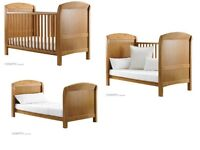 2 x Cosatto cot beds (one dark one light wood)
