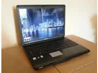 "TOSHIBA L350 LAPTOP 17.1"", FAST 2x2.20GHZ, 3GB, 160GB, WiFi, DVDRW, WEBCAM, OFFICE, ANTI-VIRUS, WIN7"