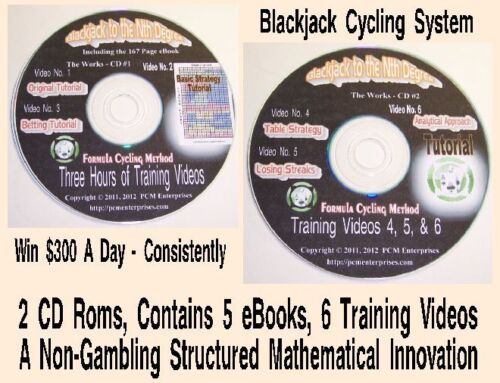 Blackjack Betting System with 2 CD Roms, Win $300 A Day Consistently #2160