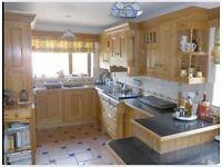 Complete Oak Handmade Kitchen & Utility, inc Dresser & Appliances