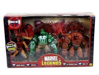 Rare - Marvel Legends House of M Box Set - Iron Man, Hulk, Inhuman Torch, The It