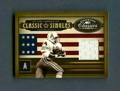 150 Classic Single (2005 Earl Campbell Donruss Classics Classic Singles Jersey Patch /150 )