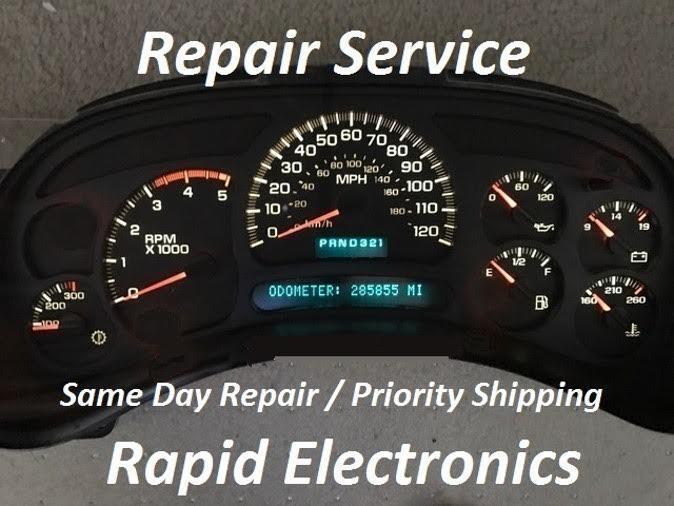 GMC 2003 - 2006 Yukon Denali Sierra Envoy Instrument Gauge Cluster IP Repair