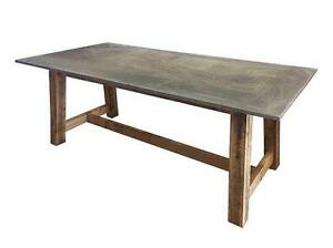 █ █ █  Comptoir magasin rustiq wood slate industrial table █ █ █