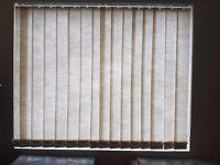 2 x Vertical Slat Blinds in Cream