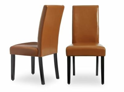 NEW Faux Leather Brown Kitchen Dining Chairs Set of 2 Bar Table Durable Cheap